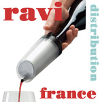 RAVI-France distribution - Ravi Instant Wine chiller for white, rosé or red wine.